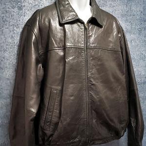 Boston Harbour Men's Dark Brown Leather Jacket